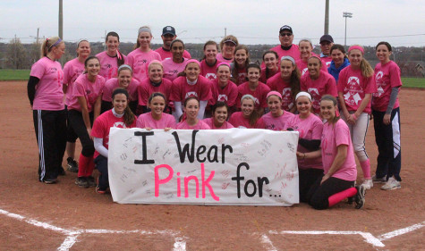 Softball celebrates first ever Pink Out games