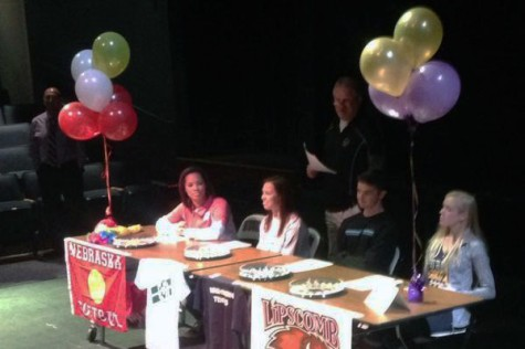 Fall Athletic Signing Ceremony