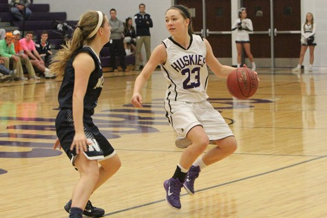 Girls varsity basketball defeats BVN 61-38