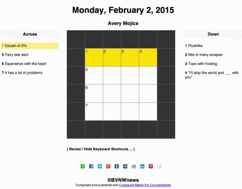 Monday, February 2, 2015 crossword