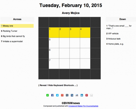 Tuesday, February 10, 2015 crossword