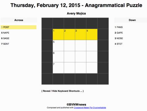 Thursday, February 12, 2015 crossword