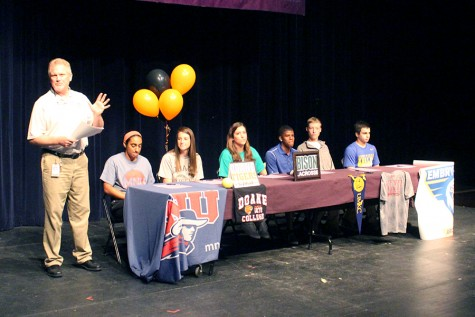 Spring athletic signing ceremony