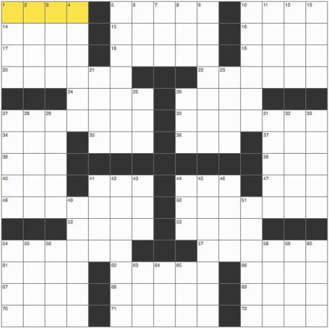 Weekly crossword: Sept. 4