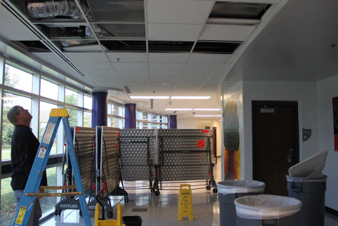 Water leak suspected cause of fire alarm