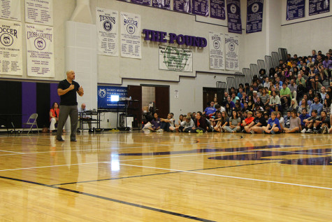 Kevin Hines helps students help each other