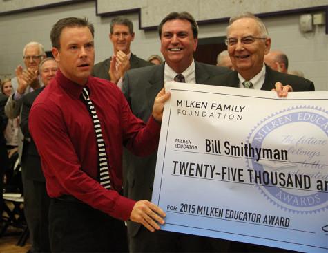 Bill Smithyman receives $25,000 through Milken Educator Award
