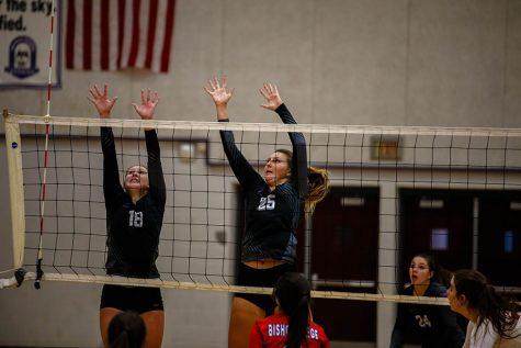 Varsity volleyball sweeps Bishop Miege, 2-0