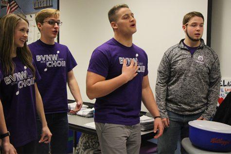 BVNW choir serenades students