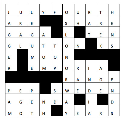Crossword Solutions: Summer Issue 2013