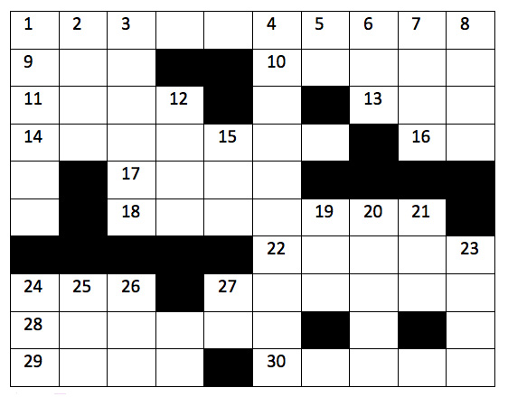 Crossword Puzzle: Issue 1