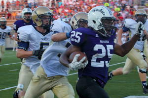 Football team takes home first win of the season