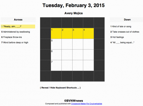 Tuesday, February 3, 2015 crossword