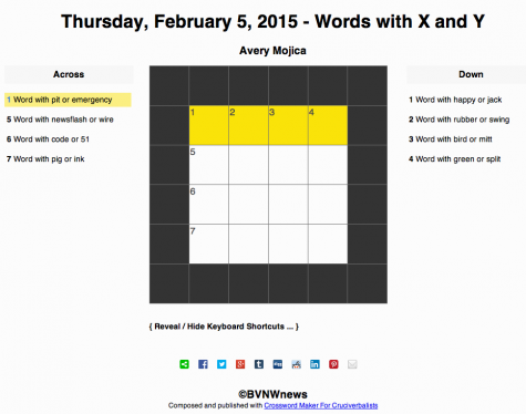 Thursday, February 5, 2015 crossword