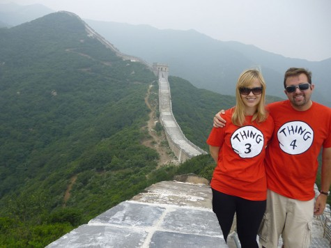 Arbucci and his wife stand on an unrestored section of the Great Wall of China during the summer of 2014 (photo courtesy of Arbucci).