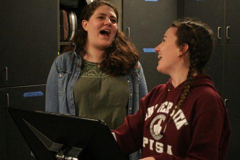 Showcasing their singing